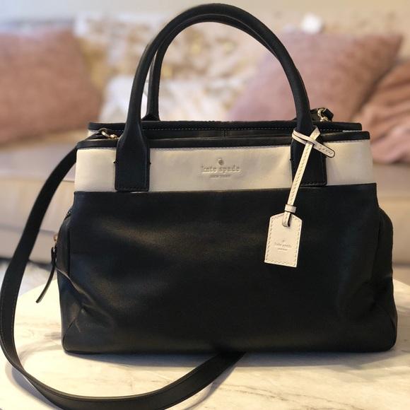 kate spade Handbags - Kate Spade Medium Size Navy and Cream Crossbody